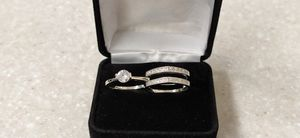 New with tag Solid 925 Sterling Silver ENGAGEMENT WEDDING Ring Set size 5 / 7 / 9 or 10 $150 set OR BEST OFFER ** WE SHIP!!📦📫** for Sale in Phoenix, AZ
