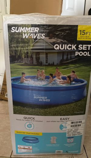 Summer waves 15ftx 36in with pump and filter for Sale in Davie, FL