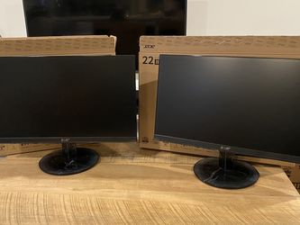 "Dual 21.5"" 1080p Acer Monitors New-in-Box for Sale in Seattle,  WA"