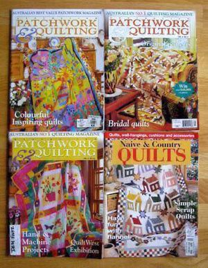 4 issues of Australia/UK magazines including Australian Patchwork and Quilting plus Naive and Country Quilts for Sale in Steilacoom, WA