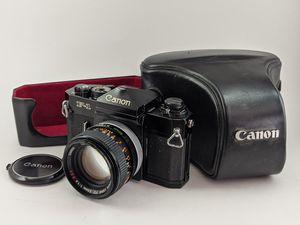 Canon F-1 Old (Original) SLR 35mm Film Camera + 50mm f/1.4, 100-200mm Lenses, Leather Case for Sale in Port Orchard, WA