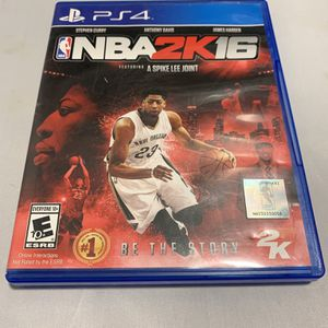 NBA 2K16 For PlayStation 4 PS4 Complete CIB Video Game for Sale in Camp Hill, PA