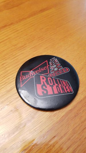 Budweiser Rolling Stone button for Sale in Washington, PA