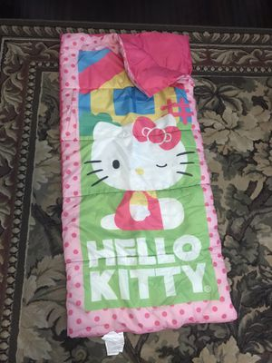 Hello Kitty sleeping bag/ pink fabric drawer/ DVDs for Sale in Chula Vista, CA