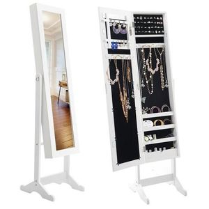Pick up only in Parlier Standing Mirror Jewelry Armoire pre owned still in box not assembled for Sale in Parlier, CA