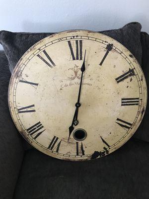 Rustic Vintage Clock (23'' diameter) for Sale in Dallas, TX