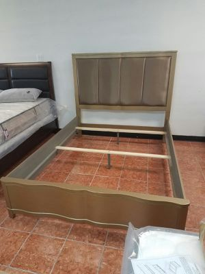 [F9382] QUEEN SIZE DELUXE BEDFRAME (NO MATTRESS INCLUDED) [ONLY $50 DOWN AND 90 DAYS TO PAY SAME AS CASH] for Sale in Irving, TX