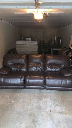 Leather Couch And Recliner for Sale in Saint Charles,  MO
