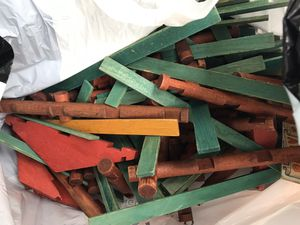 Lincoln logs vintage large bag heavy for Sale in Farmington, CT