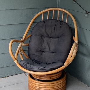 bamboo rattan swivel chair for Sale in Littleton, CO