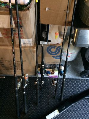 Fishing rod lot (some work/some for parts) for Sale in Zephyrhills, FL