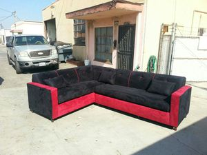 NEW 7X9FT BLACK MICROFIBER COMBO SECTIONAL COUCHES for Sale in Los Angeles, CA
