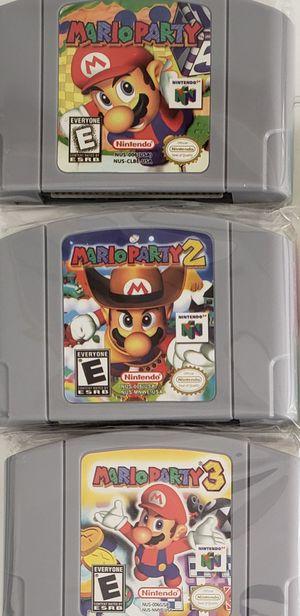 N64 Nintendo Mario Party 1, 2, & 3 for Sale in Los Angeles, CA