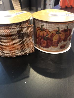 Fall harvest ribbon for Sale in Montclair, CA