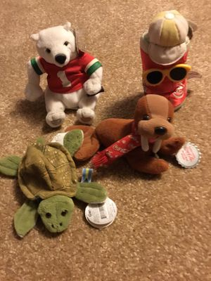 4 Coca Cola Beanie Babies for Sale in Waynesburg, PA