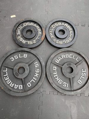 """2"""" CAP. 120lbs. olympic weight. Plate for Sale in Charlotte, NC"""