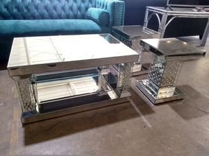 Mirror table and end tables $600 cash sale today only for Sale in Dallas, TX