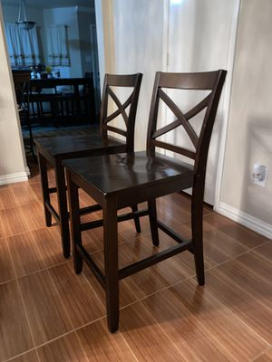 2 Wooden counter stools for Sale in Houston, TX