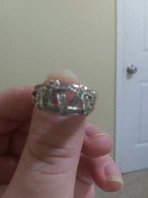 18 k White Gold Plated Ring for Sale in Cadillac, MI