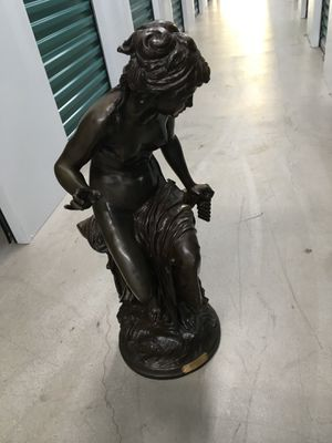 """ECHO"" , it is Bronze, about 36"" high, stamped: ""Exposition Beau Arts"". It is by L. Gregoire (French 1840-1890) Who lived and died in Paris. for Sale in Scottsdale, AZ"