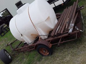 Trailer and tank asking300 for Sale in Ballinger, TX