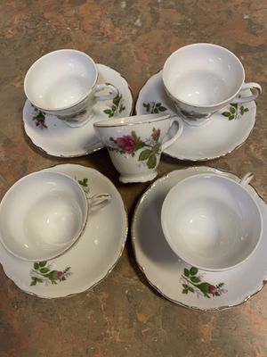 4 Vintage Miniature Cups & Saucers for Sale in Tampa, FL