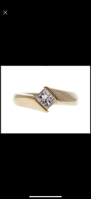 14K Gold 1.0 Carat Princess Cut Diamond Engagement Ring for Sale in Auburn, IN