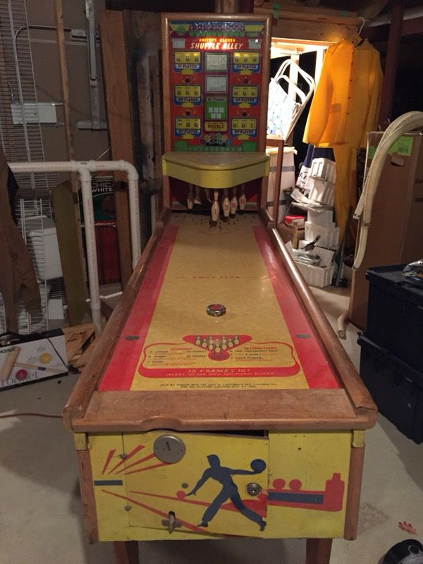 Vintage United S Clover Shuffle Alley 1953 Bowling Machine For Sale In Frankfort Il Offerup