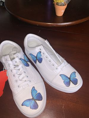 Blue butterfly vans size 5 for Sale in Long Beach, CA