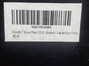 """7"""" Round Black LED Halo Headlight for Rubicon Unlimited Sport (Pair) for Sale in Fort Worth, TX"""