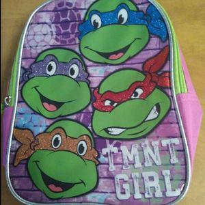 Girls mini Backpack TMNT Teenage Mutant Ninja Turtles Nickelodeon like new Smoke free for Sale in Huttonsville, WV