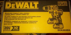 Dewalt combo 20v xr brushlees w10 for Sale in Woodbridge, VA