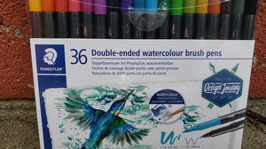 36 double ended watercolor brush pens cost was 55 never used for Sale in Roanoke, VA