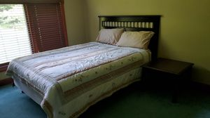 Queen size bed dresser plus mirror plus nightstand plus mattress plus Box Springs for Sale in Canton, OH