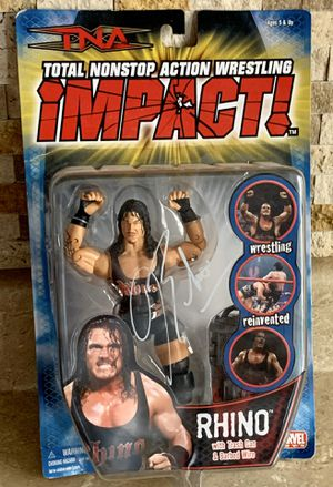 TNA Total Nonstop Action Wrestling Rhino Autographed Figure New In Box WWE ECW for Sale in North Ridgeville, OH