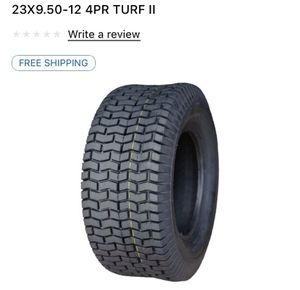 Hi Run Riding Lawn Mower Tires 23/9.50-12 (SET) for Sale in Humble, TX