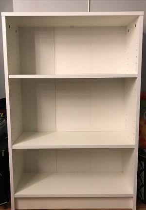3 Shelf White Storage Bookcase for Sale in Dearborn, MI