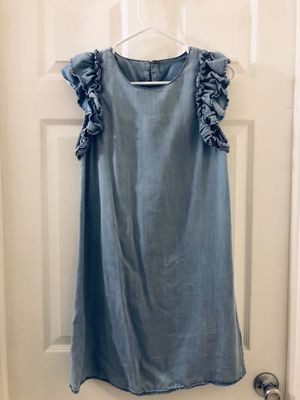 CHAMBRAY RUFFLE DRESS for Sale in Hawthorne, CA