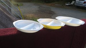 Pyrex serving dishes. No chips . 5.00 ea for Sale in Elma, WA