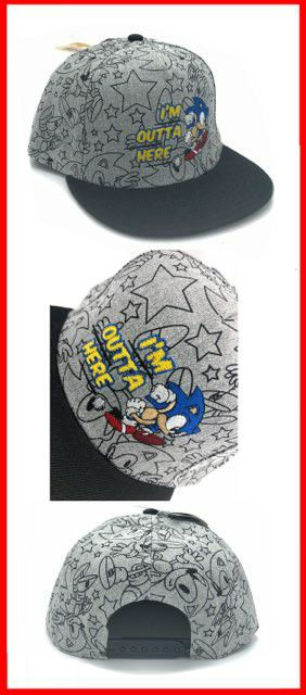 Brand NEW! Grey Sonic The Hedgehog Snapback Hat For Everyday Use/Outdoors/Summer/Birthday Gifts/Parties $16 for Sale in Carson, CA