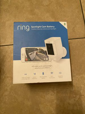 BRAND NEW RING SPOTLIGHT CAM BATTERY OUTDOOR SECURITY CAMERA for Sale in Santa Ana, CA