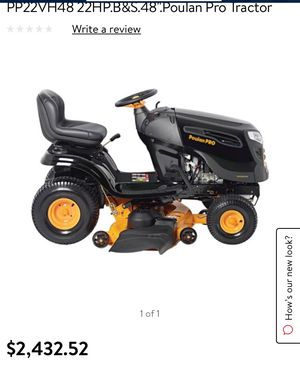 "Poulan pro 48"" ride on lawnmower for Sale in Las Vegas, NV"