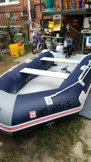 Hydro-force inflatable boat 10 feet 10 inches with 3.5 hp tohatsu motor. Barely used. for Sale in Washington, DC