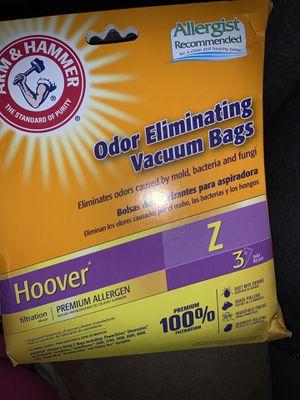 3 Pack Arm & Hammer 62612B Hoover Z Odor Eliminating Vacuum Bags & Vacuum Filter for Sale in Mableton, GA