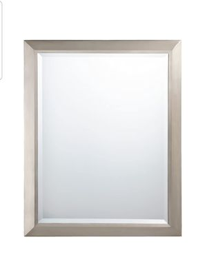 """Kichler Lighting Nickel 41011NI Rectangular Wall Mirror Brushed, 24"""" W x 30"""" H , New, PRICE IS NOT NEGOTIABLE. for Sale in Palatine, IL"""