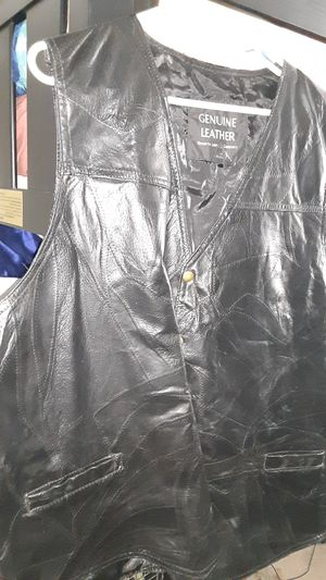 Genuine Leather Jacket Size 4x Motorcycle Vest for Sale in Las Vegas, NV
