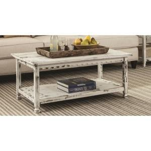 Country Cottage White Antique 42 in. L Coffee Table for Sale in Phoenix, AZ