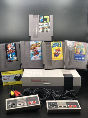 Nintendo NES with 5 Mario Games Bundle for Sale in Linden, NJ