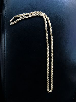 10K Gold Rope Chain 22in for Sale in Upland, CA