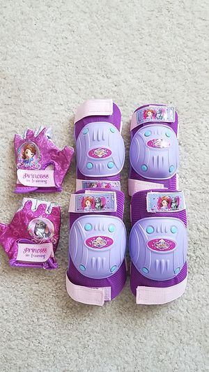 Princess Sofia Multi-Sport Protective Purple Pad Set, Elbow Knee and Wrist Guards for Sale in McKinney, TX